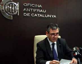 El responsable de la Oficina Antifraude de Catalu�a (OAC), Daniel de Alfonso,