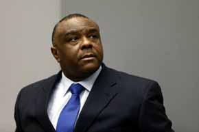 El exvicepresidente del Congo Jean Pierre Bemba durante la lectura de la sentencia de la CPI.