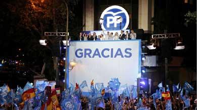 Rajoy este domingo, en el balc�n de calle G�nova...