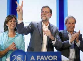 Mariano Rajoy, candidato a la reelecci�n por el PP