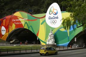 Una de las publicidades que abundan en R�o de Janeiro a prop�sito de los Juegos Ol�mpicos, que empiezan el 7 de agosto