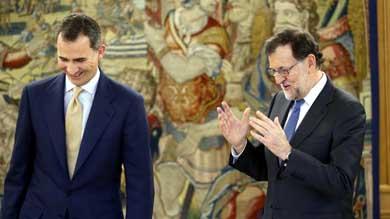 Felipe VI y Mariano Rajoy en una imagen de archivo