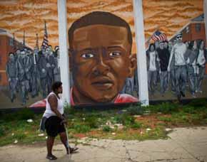 Un mural dedicado a Freddie Gray en Baltimore