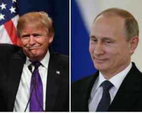 Donald Trump y Vladirmir Putin en im�genes de archivo
