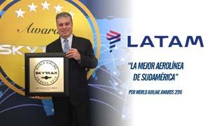 """LATAM Airlines, la """"Mejor Aerolínea de Sudamérica"""""""