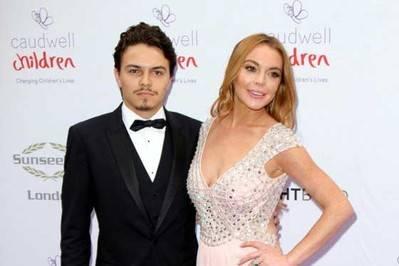 Egor Tarabasov y Lindsay Lohan en una imagen de archivo