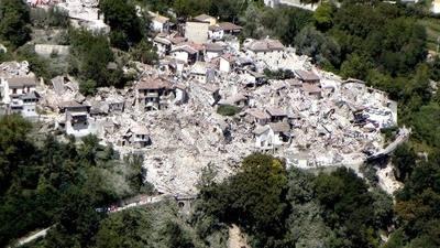 Tres poblaciones son las m�s golpeadas por el se�smo en Italia