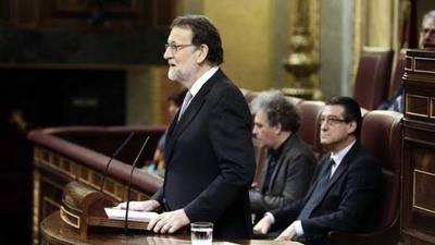 Mariano Rajoy, hoy martes en el congreso de los diputados