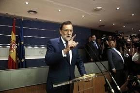 Mariano Rajoy comparece ante la prensa despu�s de la reuni�n con Pedro S�nchez
