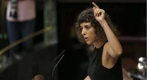 Alexandra Fern�ndez en uno de los debates de investidura.