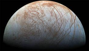Mosaico de la luna Europa a partir de im�genes de la sonda Galileo