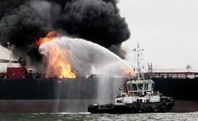Buque con 150.000 barriles de hidrocarburos se incendia en el Golfo de M�xico