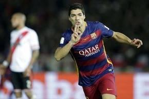 Luis Su�rez, delantero del Barcelona.