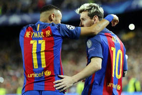 Lionel Messi y Neymar, dos nominados al Bal�n de Oro