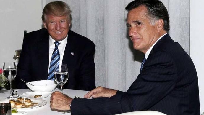 Donald Trump y Mitt Romney, su posible Secretario de Estado