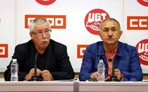 Pepe Álvarez e Ignacio Fernández Toxo.