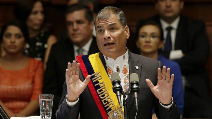 Rafael Correa cambió toda su cúpula militar en menos de un año