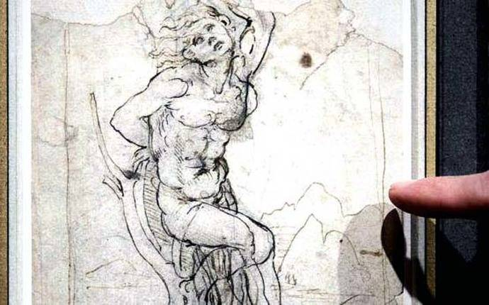 Un hombre tenía un dibujo de Da Vinci de 15 millones y no lo sabía