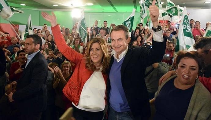 José Luis Rodríguez Zapatero ofrece a Susana Díaz todo su 'afecto y apoyo'