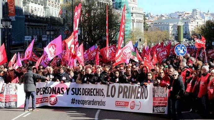 Los sindicatos reclaman a la izquierda unidad social contra las políticas del Gobierno