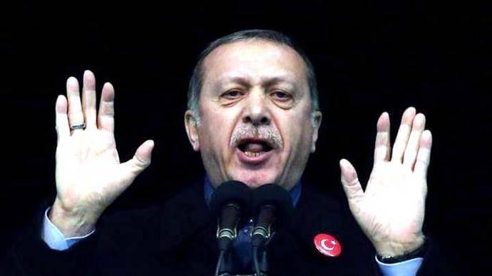 Erdogan acusa a EE.UU. de apoyar al Estado Islámico en Siria