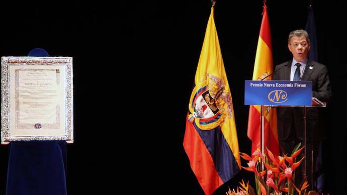 José Luis Rodríguez destaca que el Premio a Santos es un reconocimiento de los españoles a Colombia