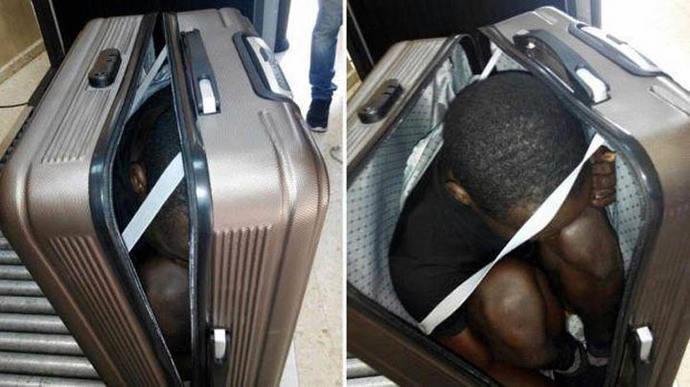 CEUTA: Intentó cruzar la frontera con un inmigrante en su maleta