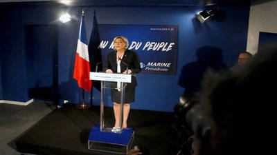 Le Pen asegura que está