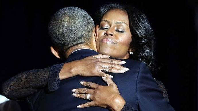 Obama rinde homenaje a Michelle en su discurso de despedida