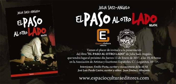 Julia Sáez-Angulo presenta su libro «El paso al otro lado» en la Asociación de Escritores y Artistas Españoles