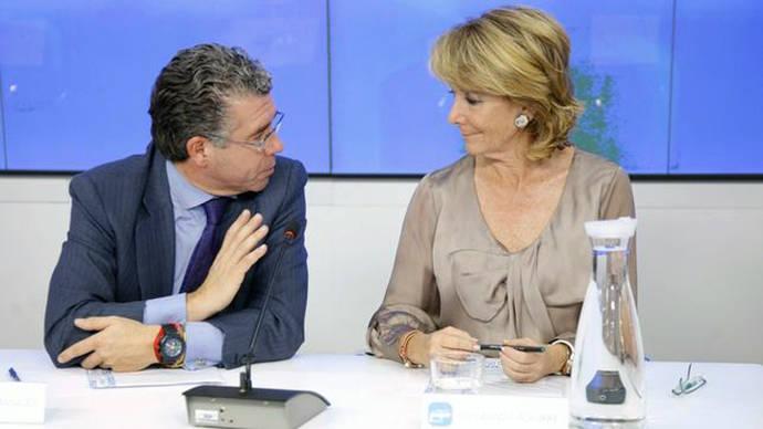 Esperanza Aguirre con Francisco Granados, que fue su número 3 en la Comunidad de Madrid