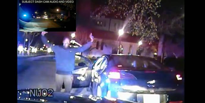 Muestran la violenta detención de un negro sospechoso de robar un coche, que era el suyo