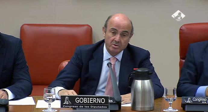 El Ministro de Economía, Industria y Competitividad, Luis de Guindos