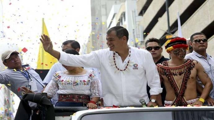 Correa afirma que su gestión ha sido para Ecuador