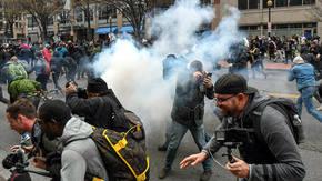 Al menos 95 detenidos en protestas antiTrump en Washington