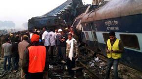 Un centenar de heridos en Nueva Delhi tras accidente ferroviario