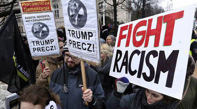 Protestas en el mundo en contra del presidente Trump