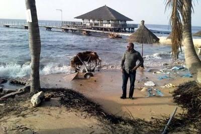 Costas africanas son engullidas por el mar