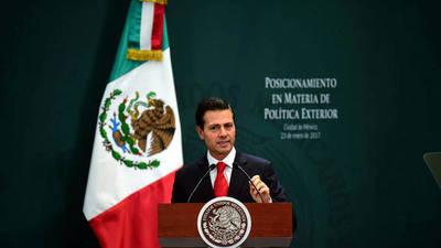 Peña Nieto le responde a Trump: