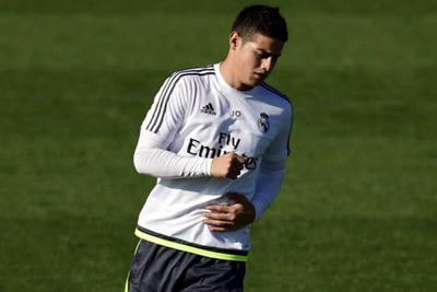 James Rodríguez, mediocampista del Real Madrid.