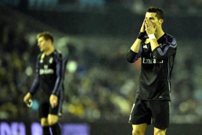 Cristiano Ronaldo lamenta la eliminación de la Copa del Rey.
