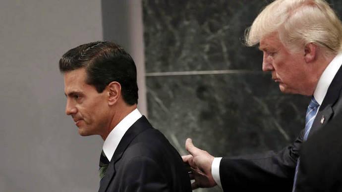 Trump y Peña Nieto frenan impasse con llamada telefónica