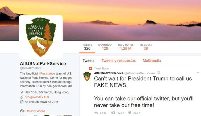 Los parques nacionales de Estados Unidos y la NASA crean cuentas de resistencia en Twitter contra Donald Trump