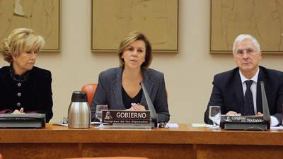 María Dolores de Cospedal durante una comparecencia en la Comisión de Defensa