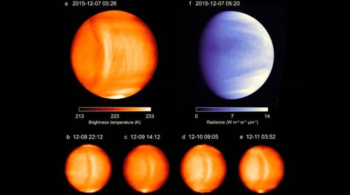 Una misteriosa onda gigante detenida en la atmósfera de Venus