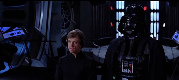 Escena de la famosa saga perteneciente a Star Wars: El Retorno del Jedi