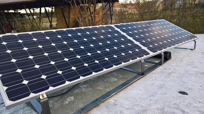 Detalle de un panel fotovoltaico