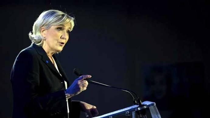 Candidata de ultraderecha a elecciones en Francia no ve un rival en Fillon