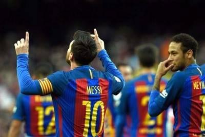 Lionel Messi anotó uno de los tantos de la victoria del Barcelona.