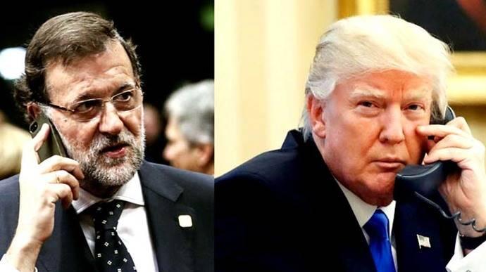 Trump promete una 'cooperación estrecha' con Rajoy y pide fondos para la OTAN